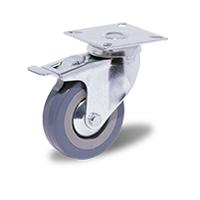 Колесо аппаратное поворотное с тормозом С-1702-МТВ