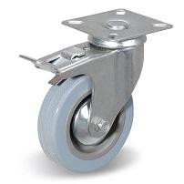 Колесо поворотное с тормозом С-1702-МТВ