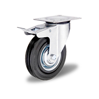 Колесо поворотное с тормозом C-3302-SLS