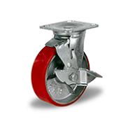 Колесо поворотное с тормозом C-4102-DUS-F04