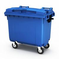 Мусорный контейнер пластиковый 660л