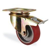 Колесо поворотное с тормозом 4102-DOR-F18