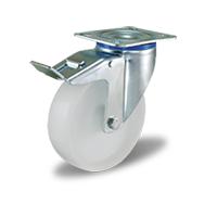 Колесо поворотное с тормозом 3302-MMB-F18
