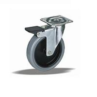 Колесо поворотное с тормозом LK-1702-MТB-F18 Словения