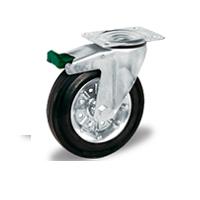 Колесо поворотное с тормозом LK-3302-SLS Словения