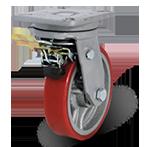 Колесо поворотное с тормозом 5102-DOR-F09