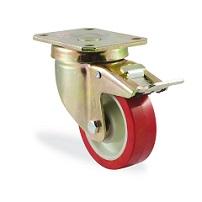 Колесо поворотное с тормозом 4102-PUR-F18