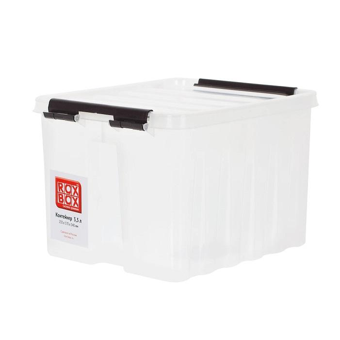 Ящик с крышкой 3.5 л прозрачный