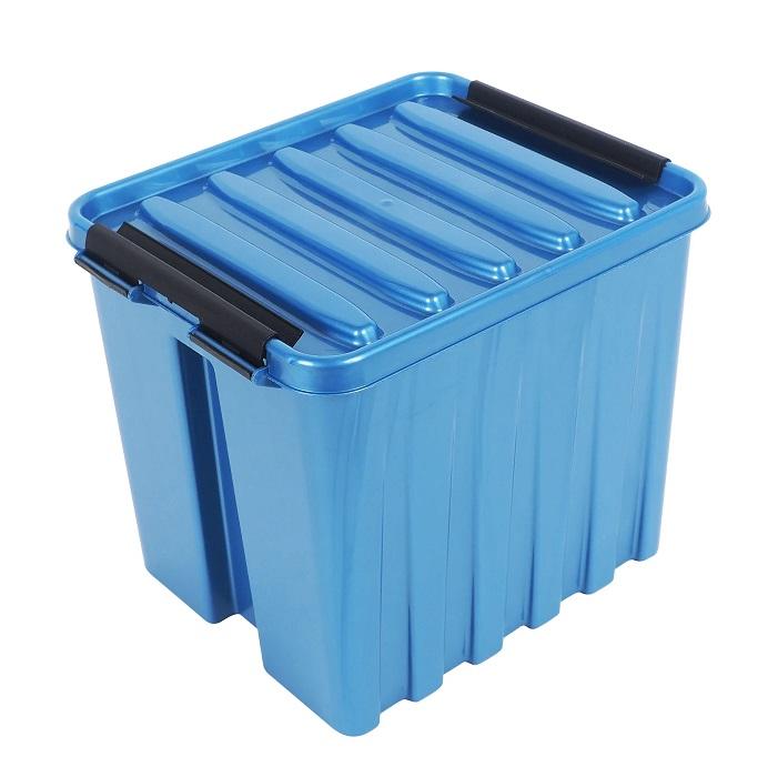Ящик с крышкой 4,5 л синий
