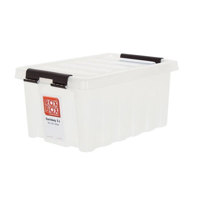 Ящик с крышкой 8 л прозрачный