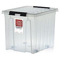 Ящик с крышкой на роликах 120 л (740х570х410 мм)