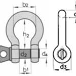 Скоба анкерная омегообразная тип G 209 (СИ) оцинкованная с резьбовым штифтом