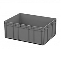 Ящик пластиковый закрытые ручки 800х600х320