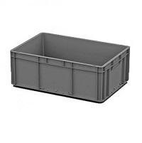 Ящик пластиковый закрытые ручки 600х400х220