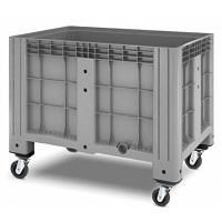 Пластиковый контейнер iBox сплошной на колесах