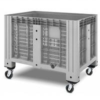Пластиковый контейнер iBox (перфорированный, на колесах)