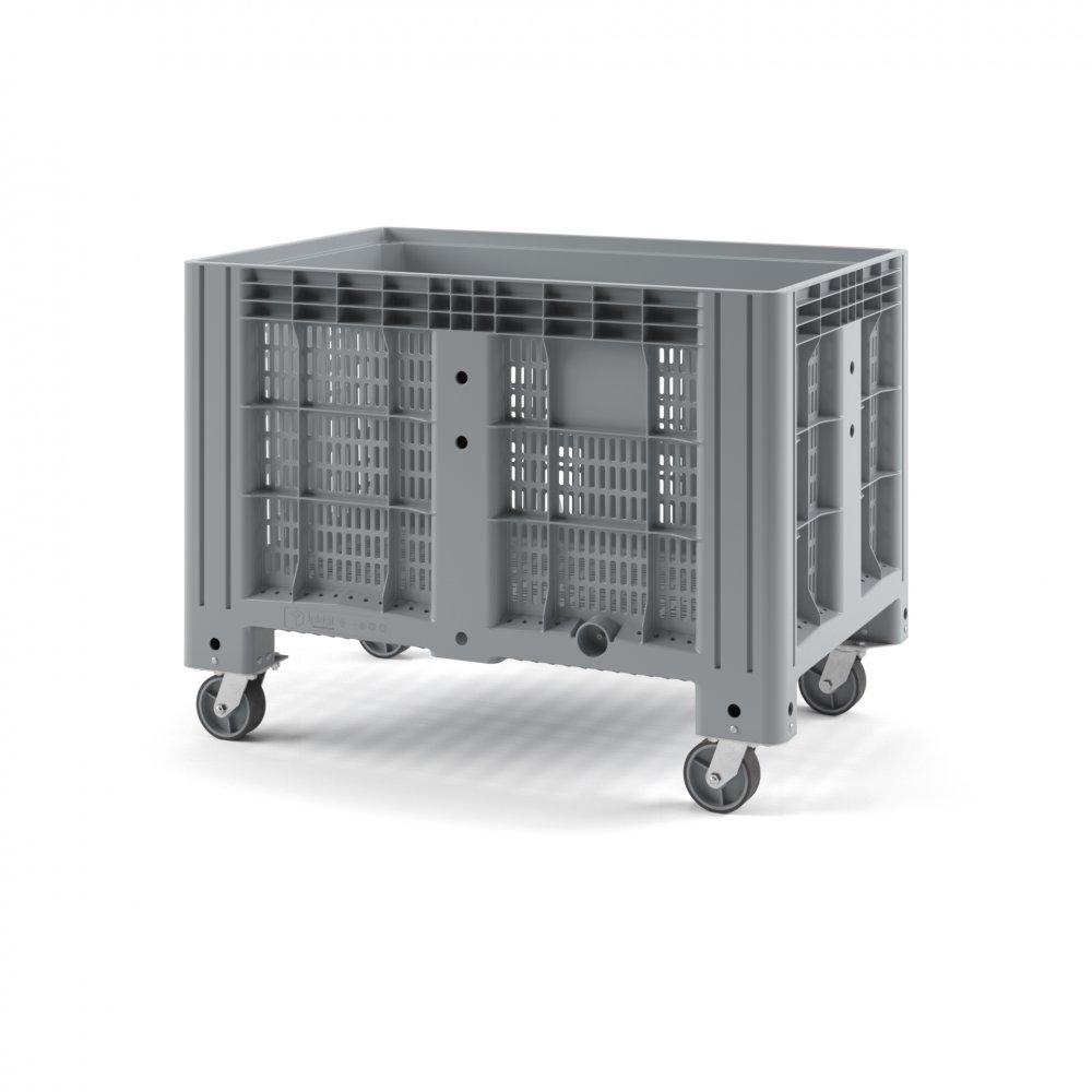 Пластиковый контейнер iBox перфорированный на колесах