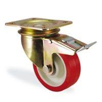 Колесо поворотное с тормозом К-4102-PUR-F18