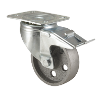 Колесо жаростойкое поворотное с тормозом 3302-DDB-F18-HT