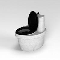Туалет торфяной «Rostok» белый гранит слайдер