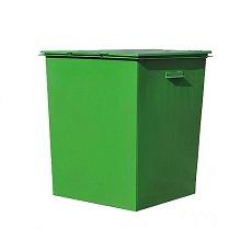 Бак мусорный металлический 0.75 м3 с крышкой